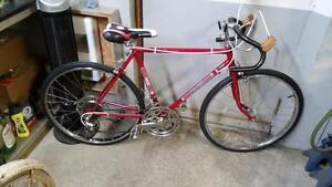Vélo de course ccm monza rouge 10 vitesses roues 24po cadre 18.5po