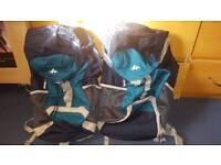 2x 40l quechua travel/hiking bags