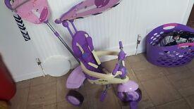 Smart trike zebra in purple