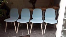 Four Stylish Chairs LEIFARNE Light blue – Ernfrid birch IKEA