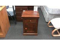 Bedside cabinet in dark wood - British Heart Foundation