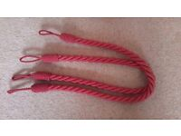 tie backs, red colour £3