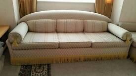 Large silk sofa