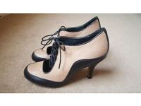 Leather Lace up booties - good condition, worn once