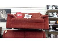 3 + 2 Red Fabric Recliner Suite
