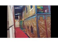 Kids soft play frame ready for uplift or delivery