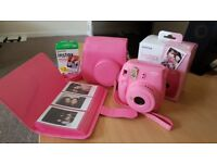 Instax Mini 9 Pink Flamingo Camera Set