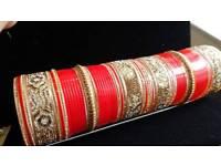 Designer Indian bridal churra set size 2.8 RRP £150