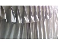 extra wide curtains and matching fabric pelmet