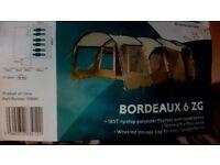 Royal Bordeaux 6 Man Tent - Including Carpet