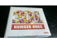 101 NUMBER ONES. 5 CDS BOX SET AS NEW.