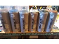 6 Spray Cans. £18. New. Clearing room for new stock.