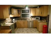 Beech laminate kitchen includes all appliances