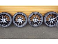 Riva DTM Gloss Black alloys and tyres
