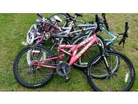 6 x push bikes for spares or repairs