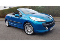 A REAL GEM.2007 PEUGEOT 207 CC 1.6 SPORT CONVERTIBLE SPORTS CAR.308,3008,107,gti,ford,foucus,,rs,st,