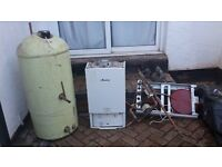 Genuine Working Worcester Boiler and Water Tank For Sale