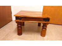Heavy wooden vintage coffee table