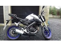 yamaha MT 125 abs 2015 for sale,good bike to learn on,all keys are with it,manual as well.