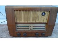 VINTAGE 1950'S FERGUSON 329A VHF VALVE RADIO