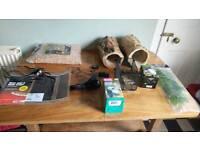 Various reptile snake lizard home vivarium accessories