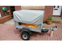 Erde 102 camping trailer with extension cover