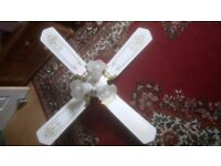 Vintage style ceiling fan with lights