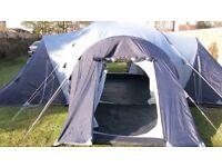 Vango Diablo 900 Tent - 3 bedrooms and living area