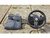 Xbox 360 Steering Wheel and Pedals - Logitech