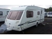 2004 4 BERTH TOP QUALITY STERLING VITESSE 520 TOP OF RANGE VAN READY FOR HOLIDAYS. NICE PORCH AWNING