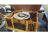 Thomas Pacconi Phonograph With AM/FM Radio & CD Player