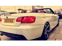 BMW 325i convertible, Pearl White - Red Leather