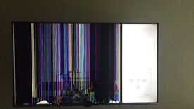 new slim 40ich samsung 5 series tv only half the screen work due to smashed screen