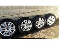 "16"" VOLKSWAGEN VW ALLOY WHEELS, 5 STUD ALLOYS , GOOD GRIP WHEELS"