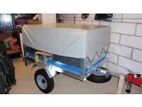 As New Erde sy150 trailer + extension kit - spare wheel & hitch lock