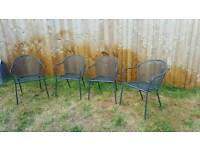 Four garden chairs *sold*
