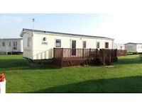 3 bed caravan with veranda to hire, West Sands, Selsey. Close to the Embassy.