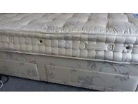 Single Bed Genoa Divan Mattress with 2 storage drawers