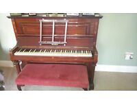 Dark wood piano for sale