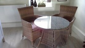 INDOOR/OUTDOOR DINING TABLE & TWO CHAIRS