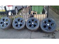 """17"""" 4x Audi Super Black Alloy Wheels For Sale"""