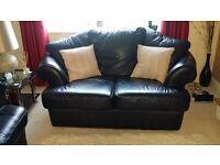 Leather sofas - black