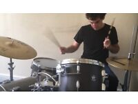 Session drummer available for recording, live work, lessons - Showreel below