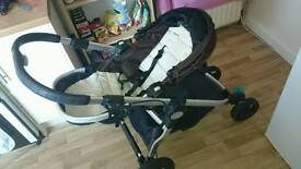 Baby jogger city select with double attachments