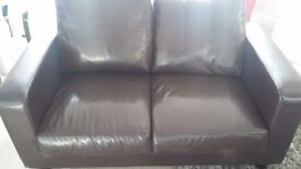 2x2 leather faux sofas