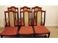 6 Dining Chairs - £20