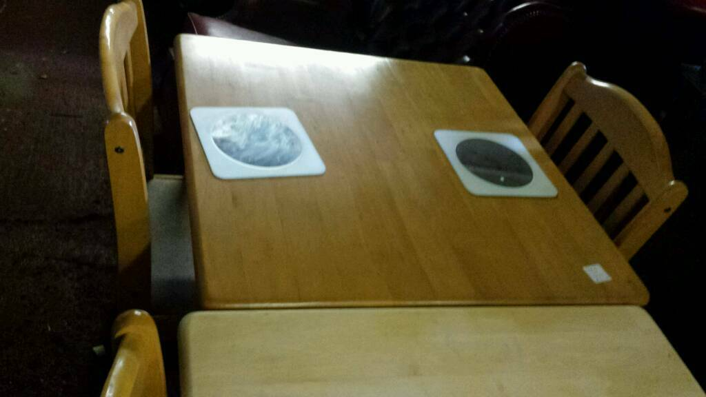 Kitchen table /two chairsin Shrewsbury, ShropshireGumtree - Two tables with two chairs good condition solid items chairs are very tidy .20.00 per table (with two chairs)ideal conservatrie or space saver dimensions are 29 inch x 29 x 29