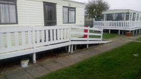 Caravan to rent Chapel St Leonards near Skegness. Golden palm resort. Disability friendly
