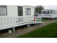 Caravan to rent Chapel St Leonards near Skegness. Golden palm resort. Disability friendly