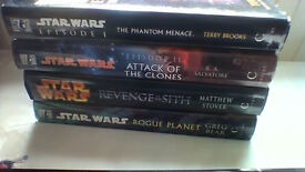 FOUR hardback Star Wars novels in very good condition